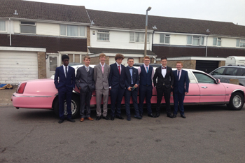 Pink Prom Stretch limo in Watford