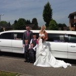 wedding-limo-with-bride-and-groom