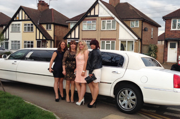 white-limo-with-girls-dressed-up